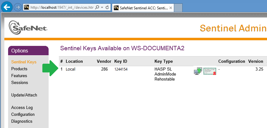 MPsoftware Technical Support | How to rehost the Sentinel HASP SL in