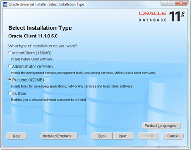 oracle install